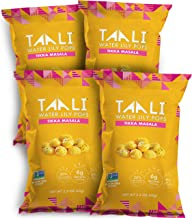 Taali Tikka Masala Water Lily Pops (4-Pack) - Savory Flavor from India | Protein-Rich Roasted Snack | Non GMO Verified | 2.3 oz Multi-Serve Bags