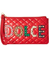 Dolce & Gabbana - Quilted Nappa with Dolce Studded Patch Zip Mini Bag