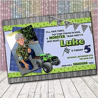 Monster Truck Birthday Invitation | Printed w/Envlopes or Printable File