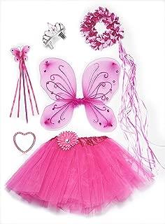 Pink Fairy Princess Costume Set--6 Piece