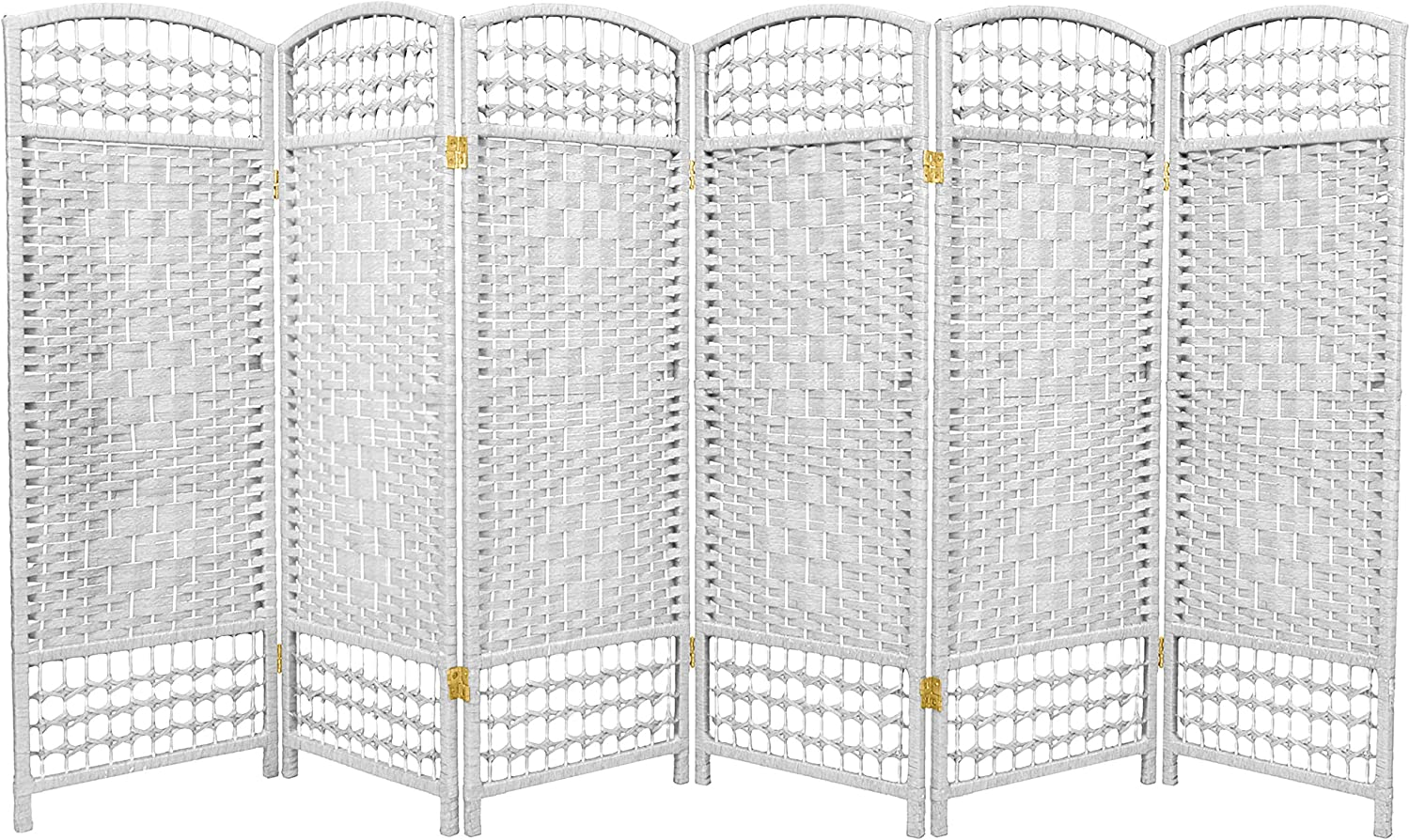 Oriental Large special price !! Furniture 4 ft. Tall Fiber Divider - New Orleans Mall White Weave Room