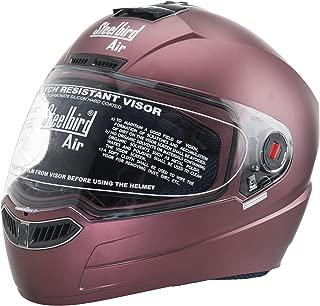 Steelbird _B019IN3B5AMatt SBA-1 Matt Marron Full Face Helmet (Maroon)