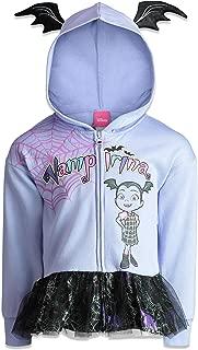 Vampirina Girls' Zip-up Hoodie Ruffle French Terry (Toddler/Little Kids)