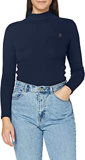 G-STAR RAW Xinva Slim Turtle Neck Camiseta para Mujer