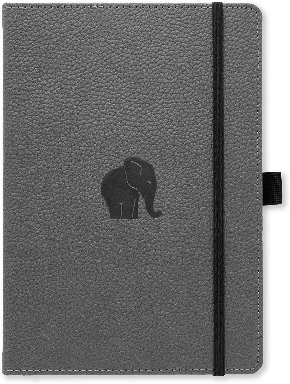 Dingbats A5+ Wildlife Grey Elephant Notebook - Lined