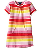 Toobydoo Short Sleeve Dress w/ Pink/Yellow/Orange (Infant/Toddler)