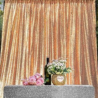 JYFLZQ Pailletten Vorhang, 2,4 x 2,4 m, 1 Panel, glitzernd, Foto Hintergrund, für Geburtstag, Hochzeit, Party