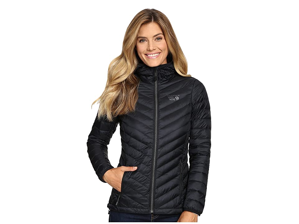Mountain Hardwear Micro Ratio Hooded Down Jacket (Black) Women