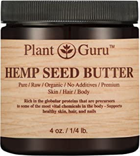 Hemp Seed Butter 4 oz. 100% Pure Raw Fresh Natural Cold Pressed. Skin Body and Hair Moisturizer, DIY Creams, Balms, Lotions, Soaps.