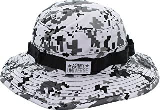 Tactical Boonie Hat Military Camo Bucket Wide Brim Sun Fishing Bush Booney Cap with Pin