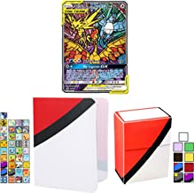 Totem World Bundle Moltres & Zapdos & Articuno GX Triple Tag Team Pokemon Card with Deck Box & Mini Binder