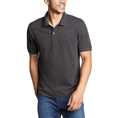 Eddie Bauer Classic Field Pro Short Sleeve Polo Shirt Tall (Charcoal Heather) Men