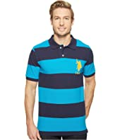 U.S. POLO ASSN. - Stripe Pique Polo w/ Big Pony