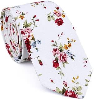 blue floral ties