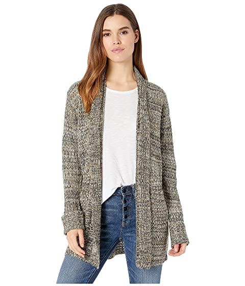 ROMEO & JULIET COUTURE Knitted Long Cardigan, Olive Combo