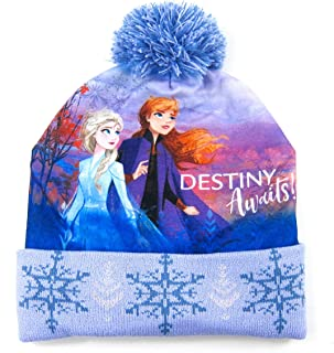 NiceNiceBuy Disney Frozen 2 Winter Hat Cap Beanie with Pom Kid Girl