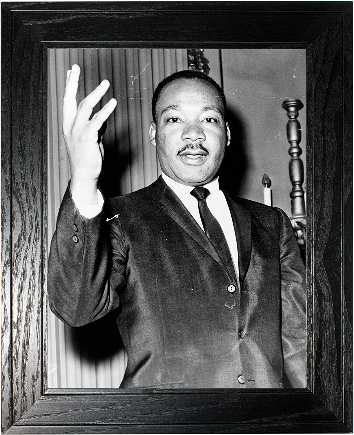 Dr. Martin Luther King Jr. Photograph in Black H Frame - Ranking TOP16 Pine a 70% OFF Outlet