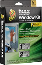 Duck MAX Strength Heavy Duty Insulating Film for Patio Door/Extra Large Window, 84-Inch x 120-Inch, Indoor, 284352