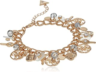 GUESS Charmy Bracelet, Gold, Blush, One Size