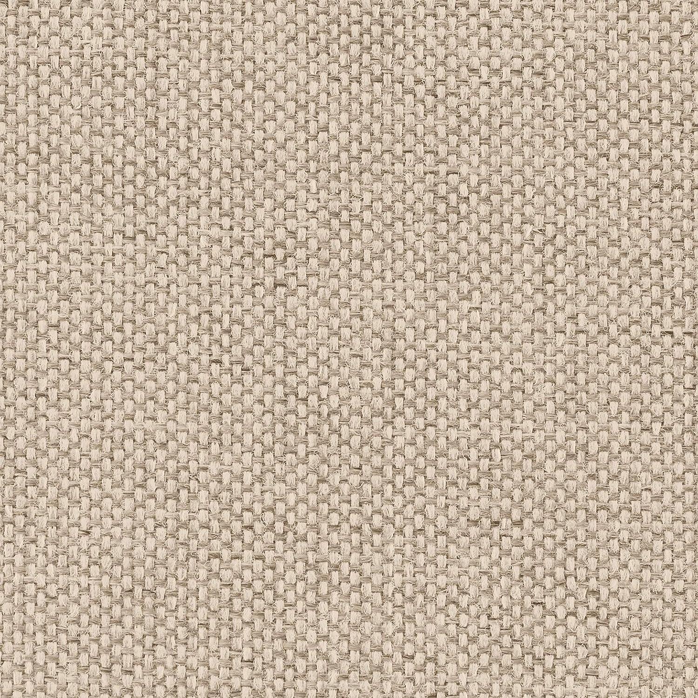 333 x 86 x 205 Polstergarnitur mit Federkern und Bettfunktion strukturstoff beige Cavadore Wohnlandschaft Salisa mit Longchair links und Ottomane rechts