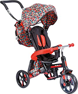 Y-Volution Mondo Toys - Strolly Bike Tricycle / Stroller for Children - Push Handle, Sunshade, Backpack for Objects - from...
