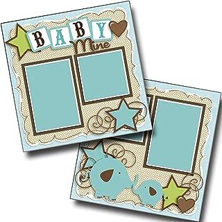 Baby Mine Boy - Premade Scrapbook Pages - EZ Layout 4040