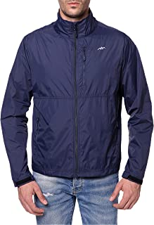 Men's Standard Water-Repellent Nylon Windbreaker Front-Zip up Jacket