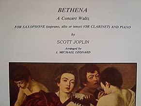Bethena (A Concert Waltz) / for Sax (Soprano, Alto, Tenor or Clarinet) and Piano