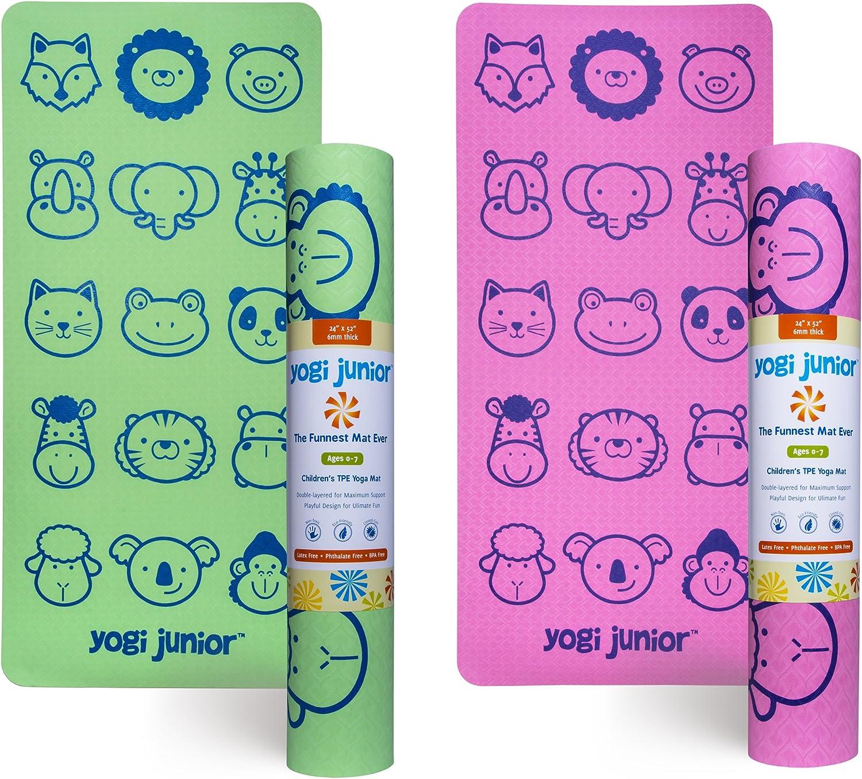 Kids Ranking TOP2 Yoga Mat by Yogi Junior Toddler Extra Overseas parallel import regular item TPE Babies Thick