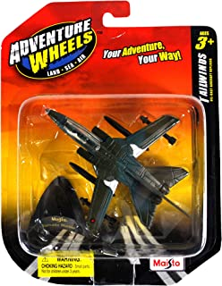 """Maisto Adventure Wheels """"Land-Sea-Air"""" Tailwinds 1:132 Scale Die Cast Military Aircraft - """"Twin Engine Variable Sweep Wing"""" Fighter Jet TORNADO MARINE with Display Stand"""