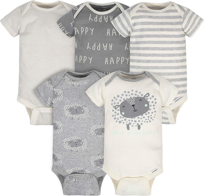 Gerber baby-boys Organic 5-pack Ranking TOP17 Bodysuits Onesies Short-sleeve low-pricing