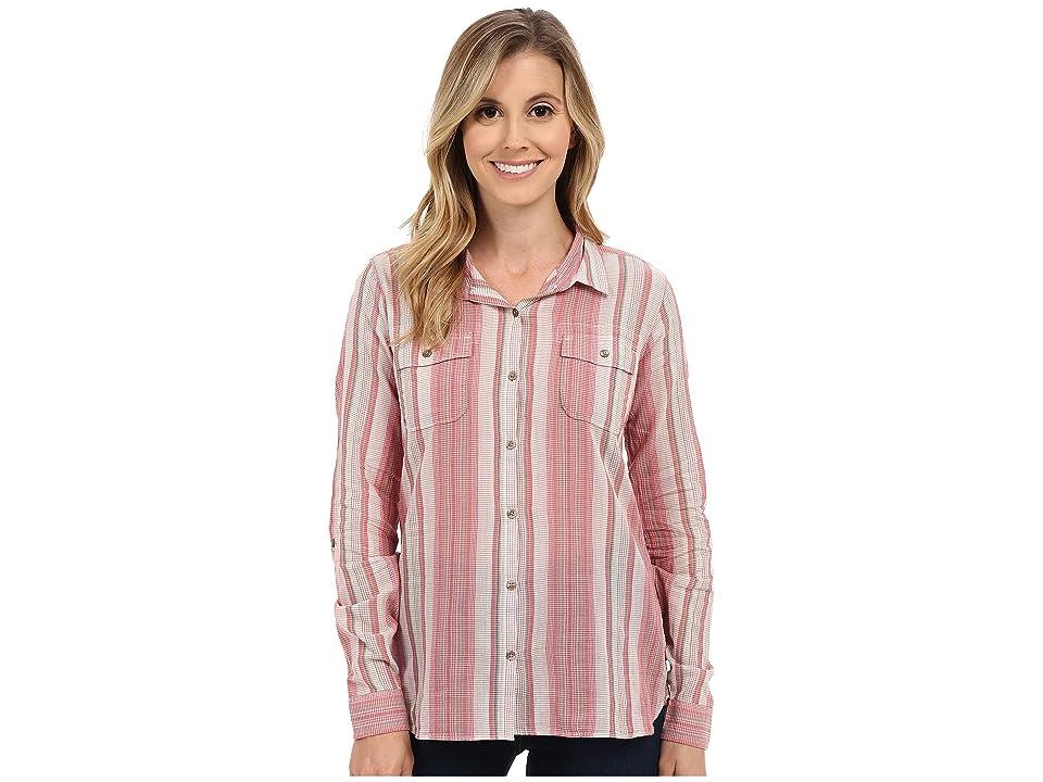 Toad&Co Airbrush L/S Shirt (Sorbet Stripe) Women