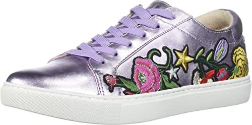 Kenneth Cole New York Wohommes Kam 10 Floral Embroiderouge Embroiderouge Embroiderouge Lace-up paniers, Lavender, 6.5 M US a12