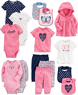 Carters Baby Girls 15-Piece Basic Essentials Set