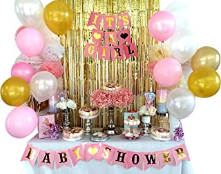 Baby Shower Decorations 46pc Baby Girl Set, Elegant and Enchanting Colors Including Free mom to be sash, It is a Girl & Ba...