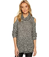 Jack by BB Dakota Brodie Lurex Accented Cold-Shoulder Sweater