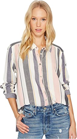 Roxy - Romantic Path Stripe Woven Top