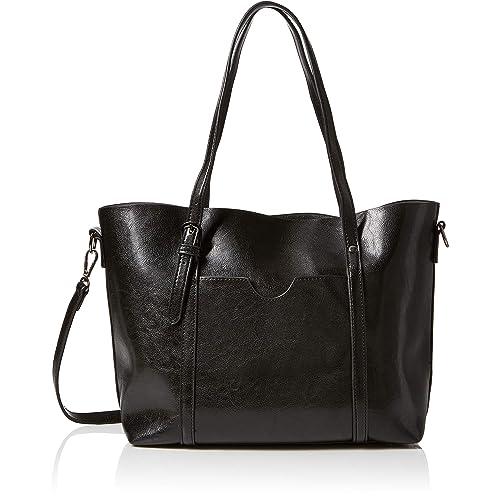 28cce9ced25 KAMIERFA Tote Bags for Women Designer Italian PU Leather Large Capacity  Classic Ladies Tote Handbags Cross