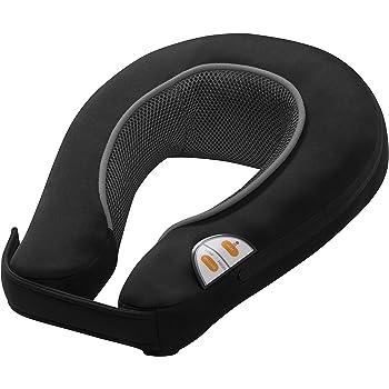 Medisana NM 865 Vibrations-Nackenmassagegerät mit Wärmefunktion, 2 Intensitäten, kabelloses Massagegerät für Unterwegs, mit integriertem Bedienfeld