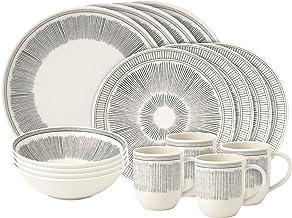 Royal Doulton Grey Lines Ellen DeGeneres 16 Piece Dinnerware Set, Porcelain, 36.23