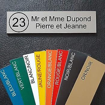 plaque ou etiquette de boite aux lettres 1 ligne Jaune 100x25mm