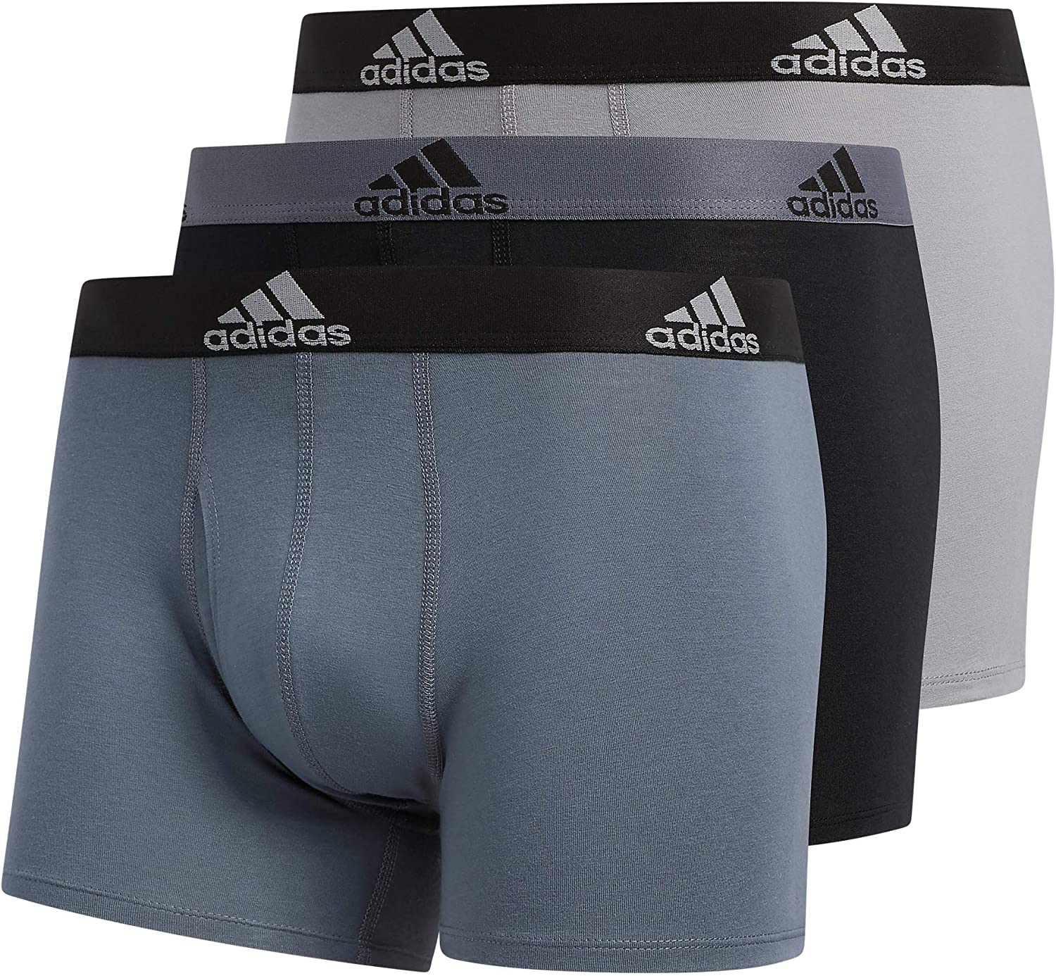 adidas Men's Ranking OFFicial mail order TOP5 Stretch Cotton Underwear 3-Pack Trunk