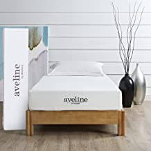 """Modway Aveline 8"""" Gel Infused Memory Twin Mattress With CertiPUR-US Certified Foam, White"""