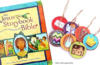 Wood Children`s Jesse Tree Advent Ornaments ~ The Jesus Storybook Bible (Book not Included)