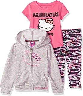 Hello Kitty Baby Girls 3 Piece Zip Up Hoodie Legging Set with T-Shirt