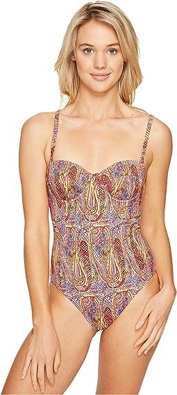 Paisley Underwire One-Piece Swimsuit