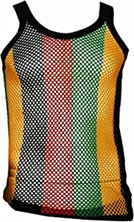 Rasta Jamaica Jamaican Fest Mesh Vest Tank Top Beach Cover Mariner Shirt XXL