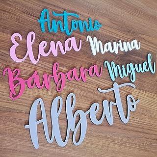 KARIVOO Nombres de madera personalizados para decorar dormitorio infantil, armario o puerta de niño o bebé, regalo muy ori...
