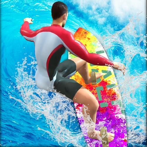 cascades de surf extrêmes - super jeu de simulateur de sports d'été