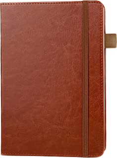 Lined Ruled Leather Journal Notebook by Scribbles That Matter - A5 Hardcover notebook, Writing,& Record Keeping For Executive Business, Thick Paper, with Card Holder, Elastic Penloop, and End Pocket
